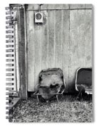 Distressed Building B Spiral Notebook