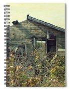 Distressed Honey House Door County Wisconsin Spiral Notebook