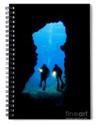 Divers Silhouetted Through Reef Spiral Notebook