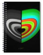 Divided Heart Spiral Notebook