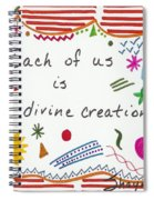 Divine Creation Doodle Quote Spiral Notebook