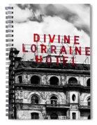 Divine Lorraine Hotel Marquee Spiral Notebook