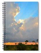 Divinely Inspired Sunset Spiral Notebook