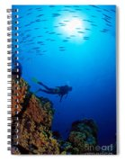 Diving Scene Spiral Notebook