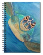 Diving Sea Turtle Spiral Notebook