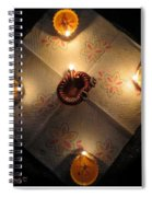 Diwali Lamps Spiral Notebook