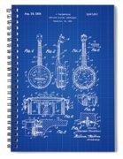 Dixie Banjolele Patent 1954 In Blue Print Spiral Notebook