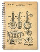 Dixie Banjolele Patent 1954 In Sepia Spiral Notebook
