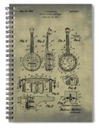 Dixie Banjolele Patent 1954 In Weathered Spiral Notebook