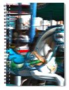 Dizzy In Blue Spiral Notebook