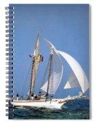 dk tall ships fiddlers green gaff schooner lyr 1973 D K Spinaker Spiral Notebook