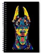 Doberman Dog Breed Head Pet Breed True Friend Color Designed Spiral Notebook