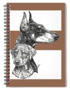 Cropped Doberman Pinscher And Pup Spiral Notebook