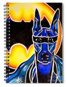 Dog Superhero Bat Spiral Notebook