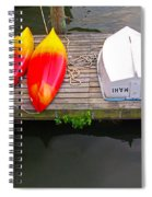 Dock And Boats Spiral Notebook