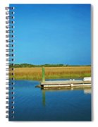 Dock And Marshes Spiral Notebook