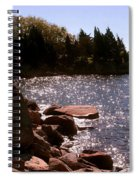dock at Mount Hope Farm Bristol Rhode Island Spiral Notebook
