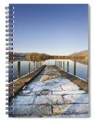 Dock In A Lake, Cumbria, England Spiral Notebook