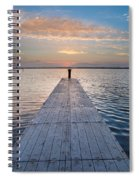 Dock On Arcata Bay At Twilight Spiral Notebook