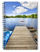 Dock On Lake In Summer Cottage Country Spiral Notebook
