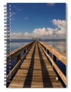 Dock On The Lake Spiral Notebook