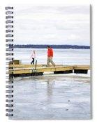Dock Walking  Spiral Notebook