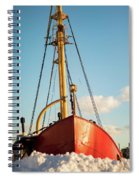 Docked At The Snowfront Spiral Notebook
