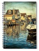 Docked At Pier In Orlieb Beach Nj Spiral Notebook