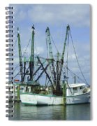 Docked In Port Orange Spiral Notebook