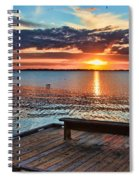 Dockside Sunset By H H Photography Of Florida Spiral Notebook