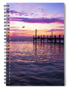 Dockside Sunset Spiral Notebook