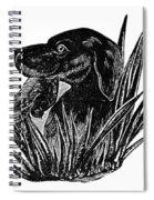 Dog, 19th Century Spiral Notebook