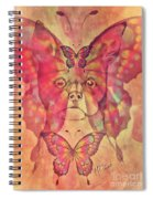 Dog And Butterfly Spiral Notebook