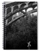 Dog Creek Bridge Railroad  Crossing Spiral Notebook