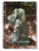 Dog Garden Statues Spiral Notebook