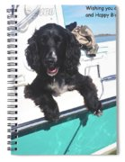 Dog Happy Birthday Card Spiral Notebook