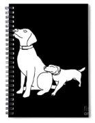 Dog Love Tee Spiral Notebook
