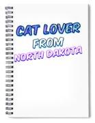 Dog Lover From North Dakota Spiral Notebook