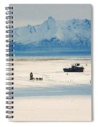 Dog Musher At Cook Inlet - Alaska Spiral Notebook