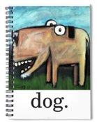 Dog Poster Spiral Notebook