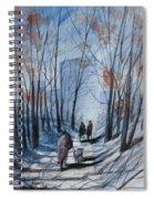 Dog Walking 2, Watercolor Painting Spiral Notebook