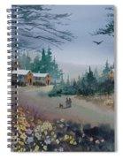 Dog Walking, Watercolor Painting  Spiral Notebook