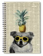 Dog With Goggles And Pineapple Spiral Notebook