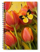 Dogface Butterfly And Tulips Spiral Notebook