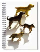 Dogs Figurines Spiral Notebook