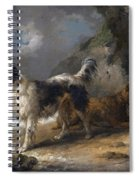 Dogs On The Coast Spiral Notebook