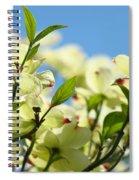 Dogwood Flowers Art Prints Canvas White Dogwood Tree Blue Sky Spiral Notebook