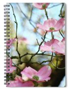 Dogwood Flowers Pink Dogwood Tree Landscape 9 Giclee Art Prints Baslee Troutman Spiral Notebook