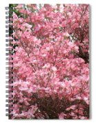 Dogwood Tree Flowers Art Prints Canvas Pink Dogwood Spiral Notebook