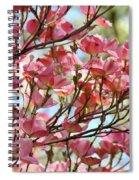 Dogwood Tree Landscape Art Prints Blue Sky Baslee Troutman Spiral Notebook